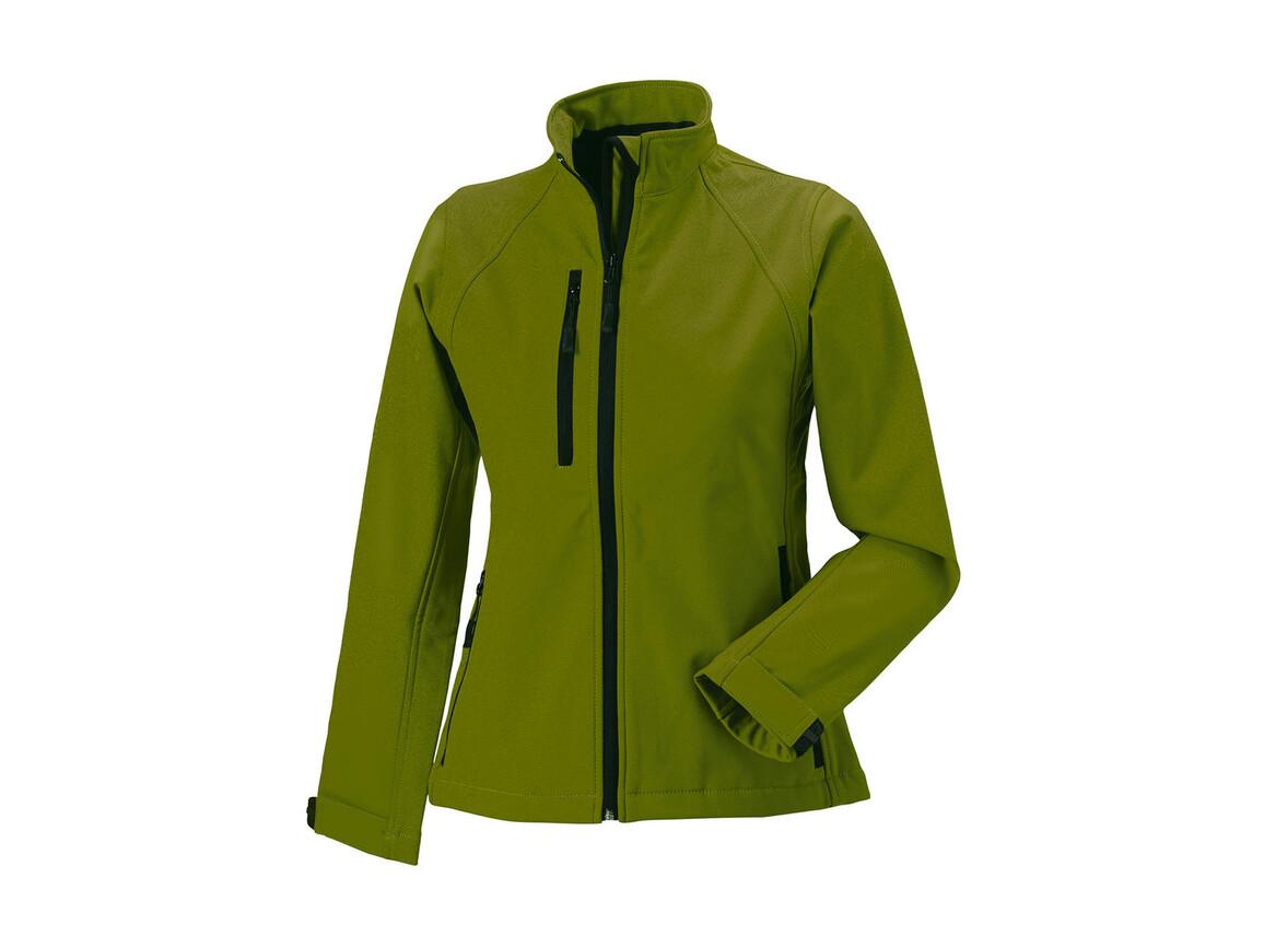 Russell Europe Ladies` Softshell Jacket, Cactus, XS (34) bedrucken, Art.-Nr. 462006462