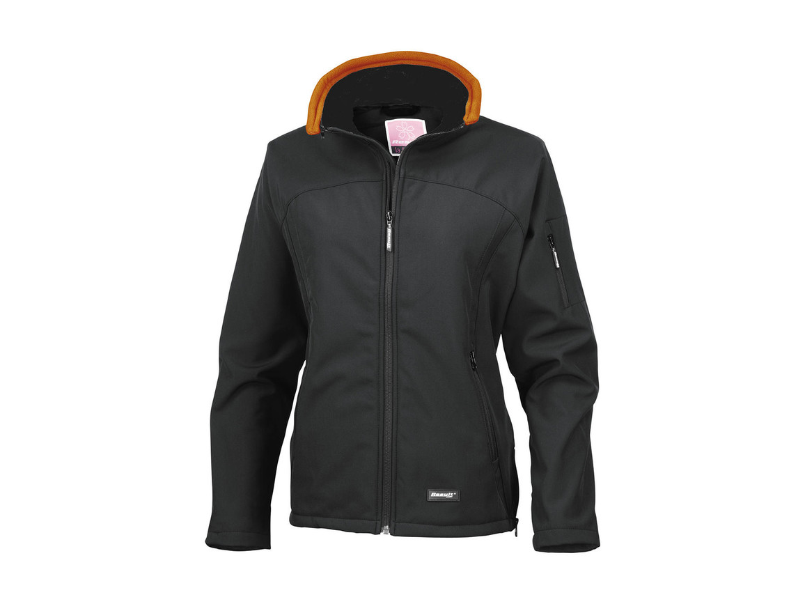 Result Ladies` Softshell Jacket, Black, L bedrucken, Art.-Nr. 462331015