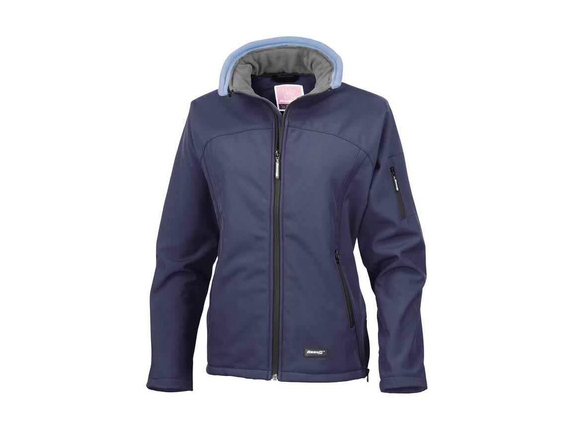 Result Ladies` Softshell Jacket, Navy, XL bedrucken, Art.-Nr. 462332006