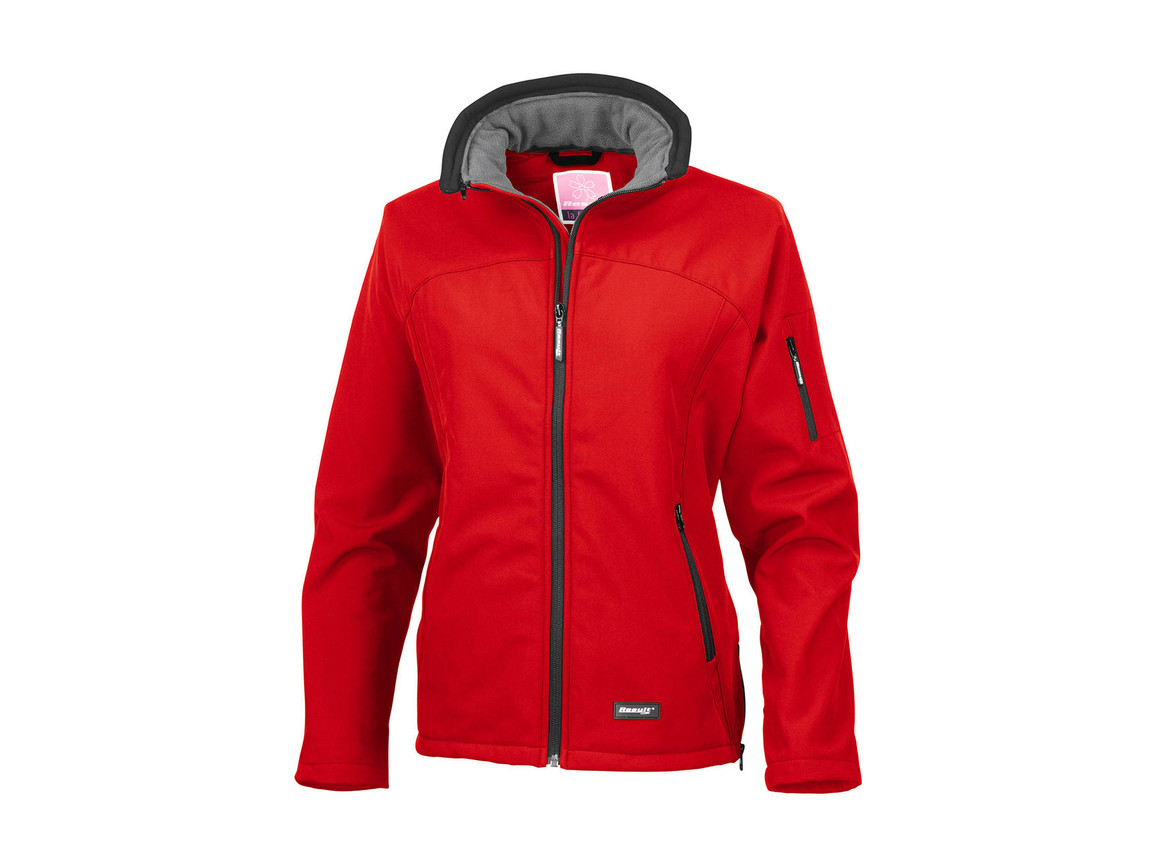 Result Ladies` Softshell Jacket, Red, 2XL bedrucken, Art.-Nr. 462334007