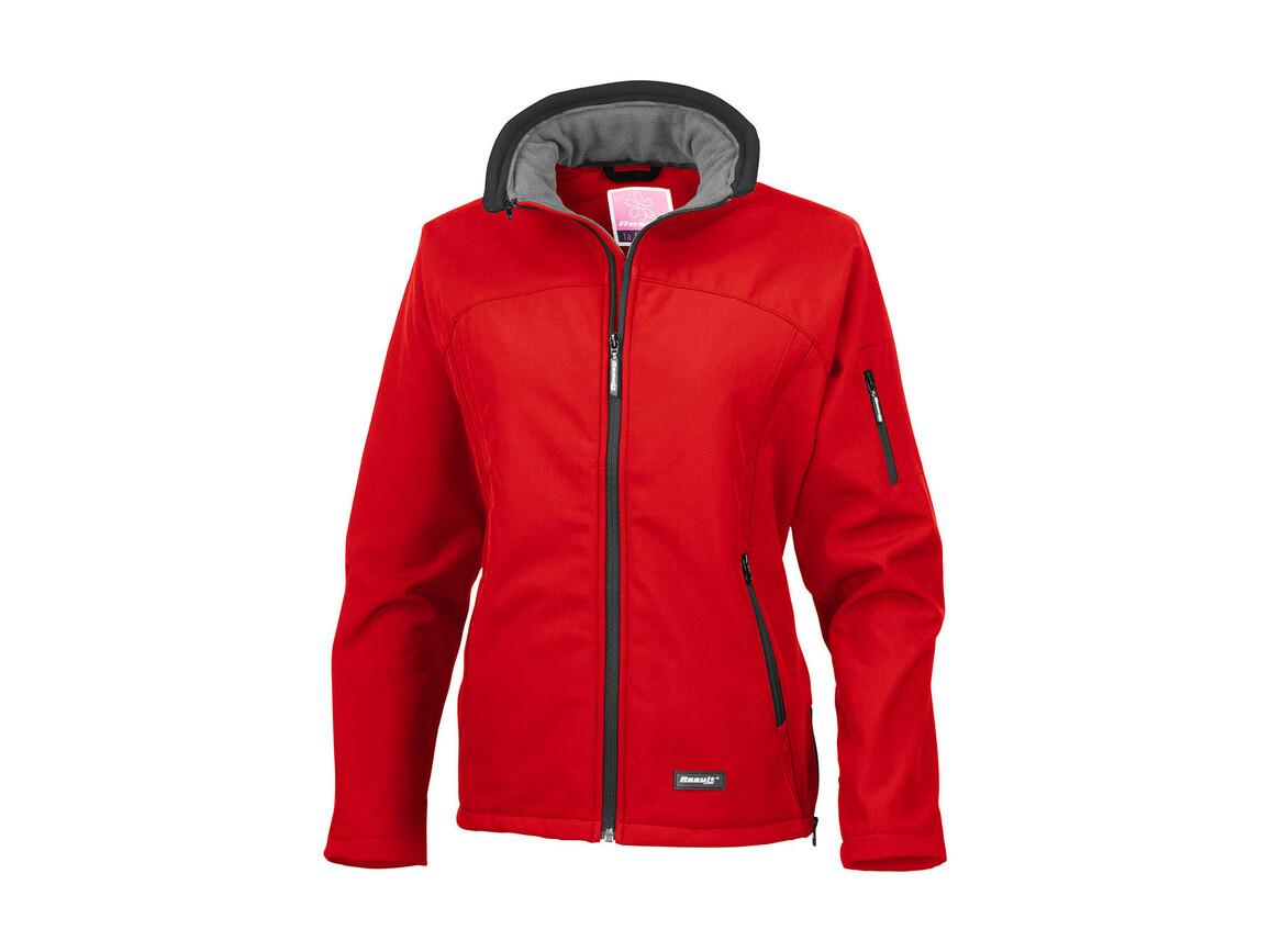 Result Ladies` Softshell Jacket, Red, XS bedrucken, Art.-Nr. 462334002