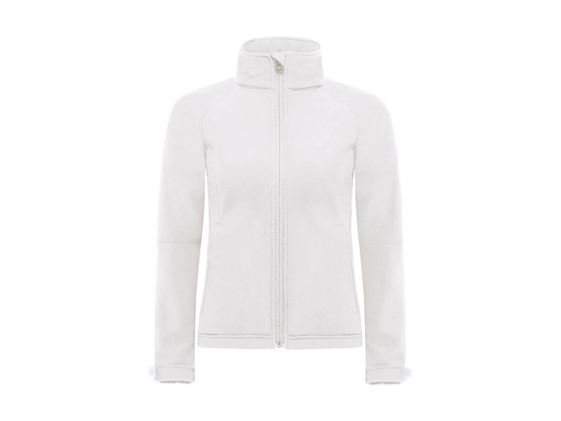 B & C Hooded Softshell/women, White, L bedrucken, Art.-Nr. 462420005