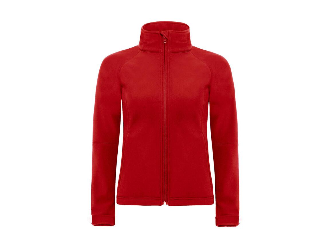 B & C Hooded Softshell/women, Red, L bedrucken, Art.-Nr. 462424005