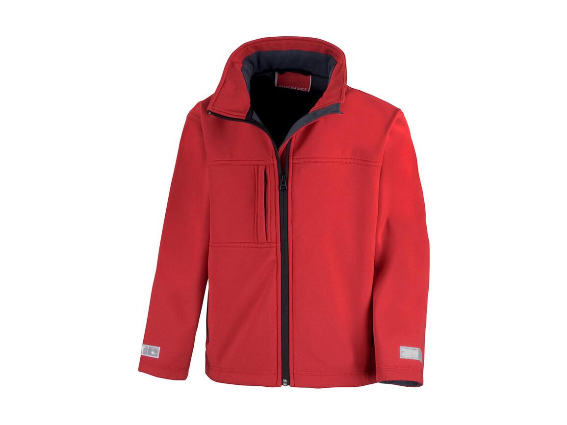 Result Junior/Youth Classic Soft Shell, Red, XL (11-12) bedrucken, Art.-Nr. 466334006