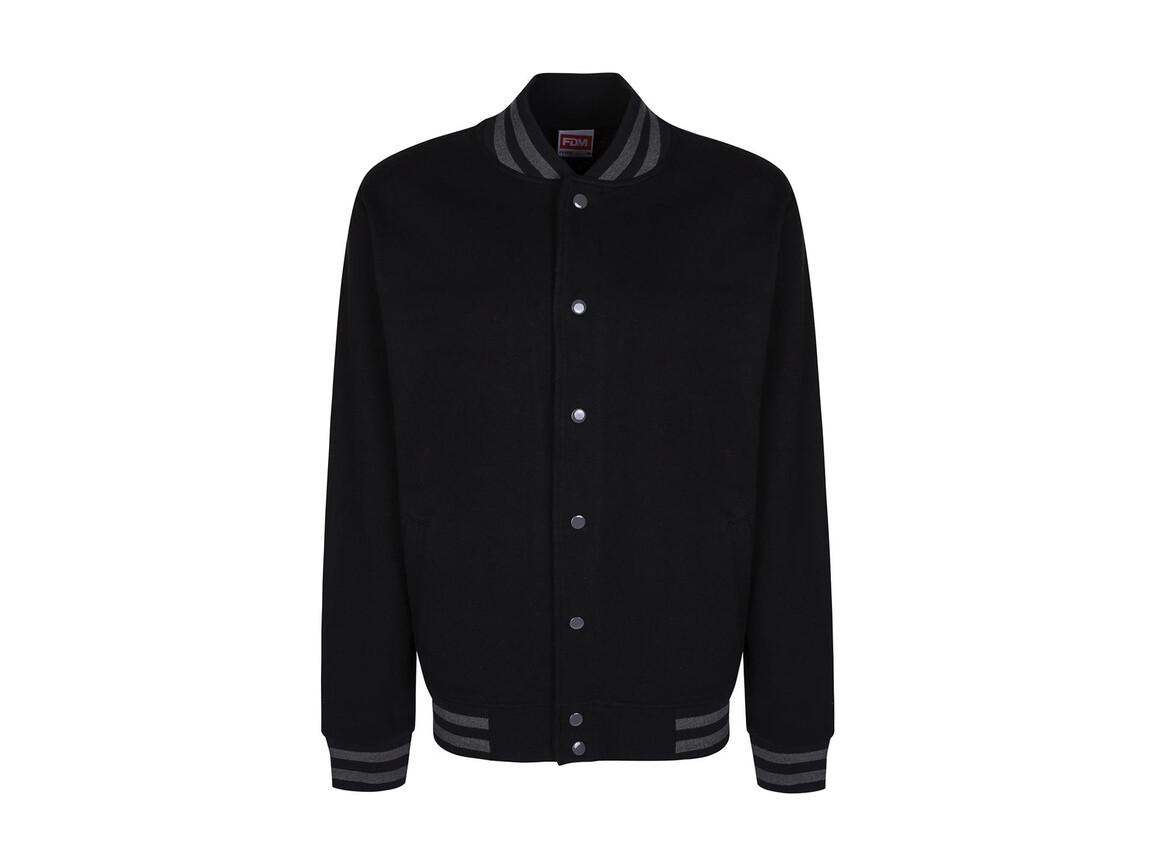 FDM Campus Jacket, Black/Charcoal, S bedrucken, Art.-Nr. 466551593