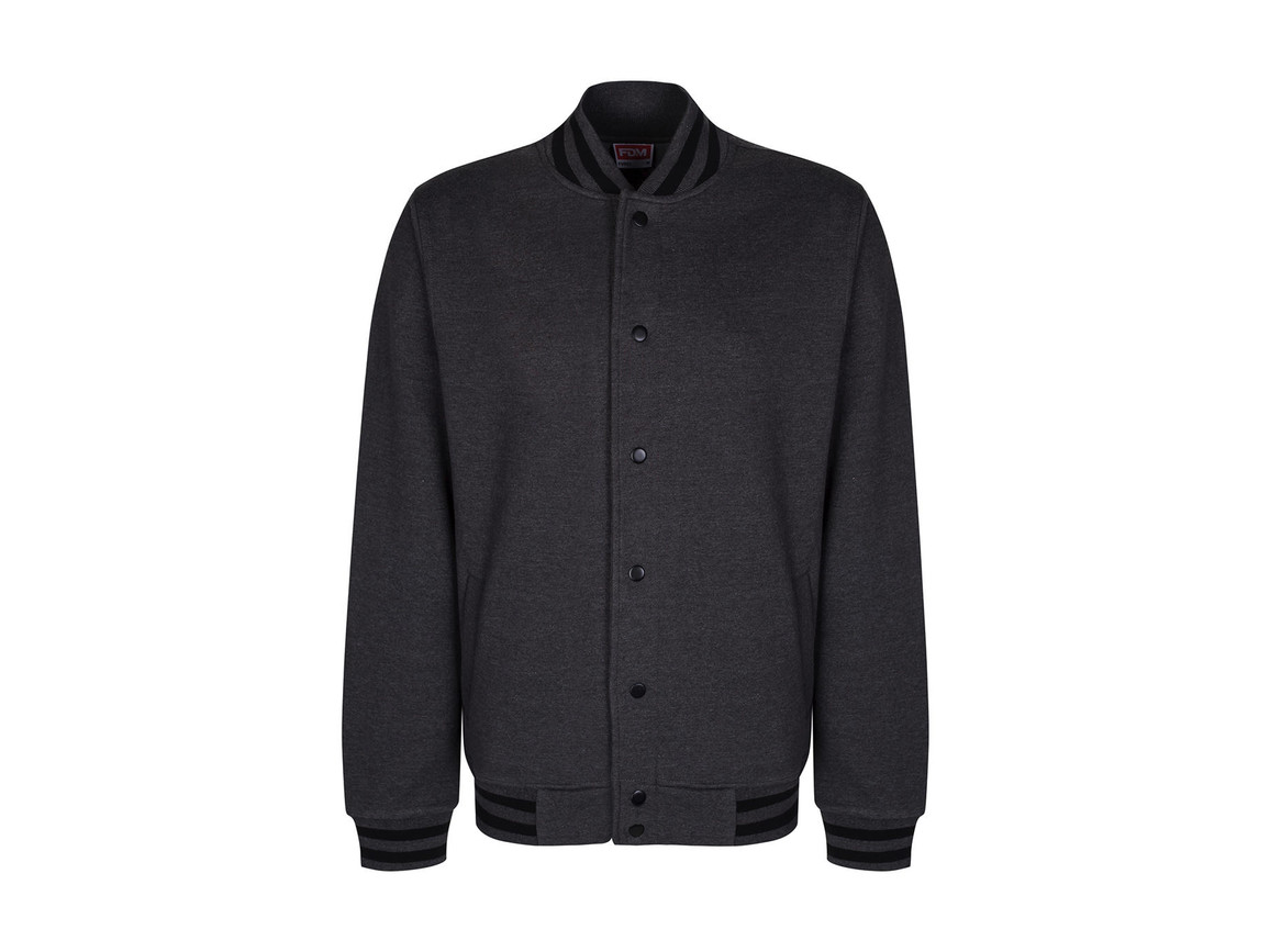 FDM Campus Jacket, Charcoal/Black, L bedrucken, Art.-Nr. 466551885