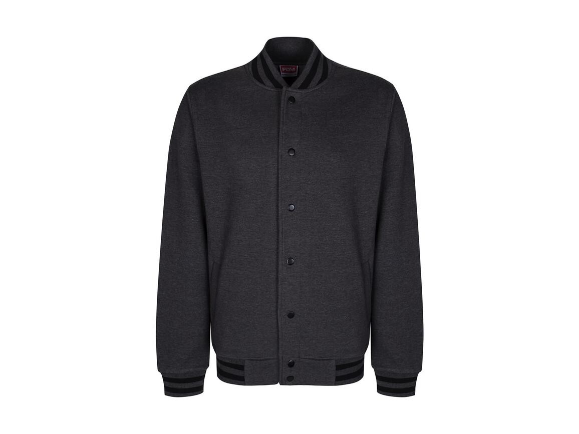 FDM Campus Jacket, Charcoal/Black, XS bedrucken, Art.-Nr. 466551882