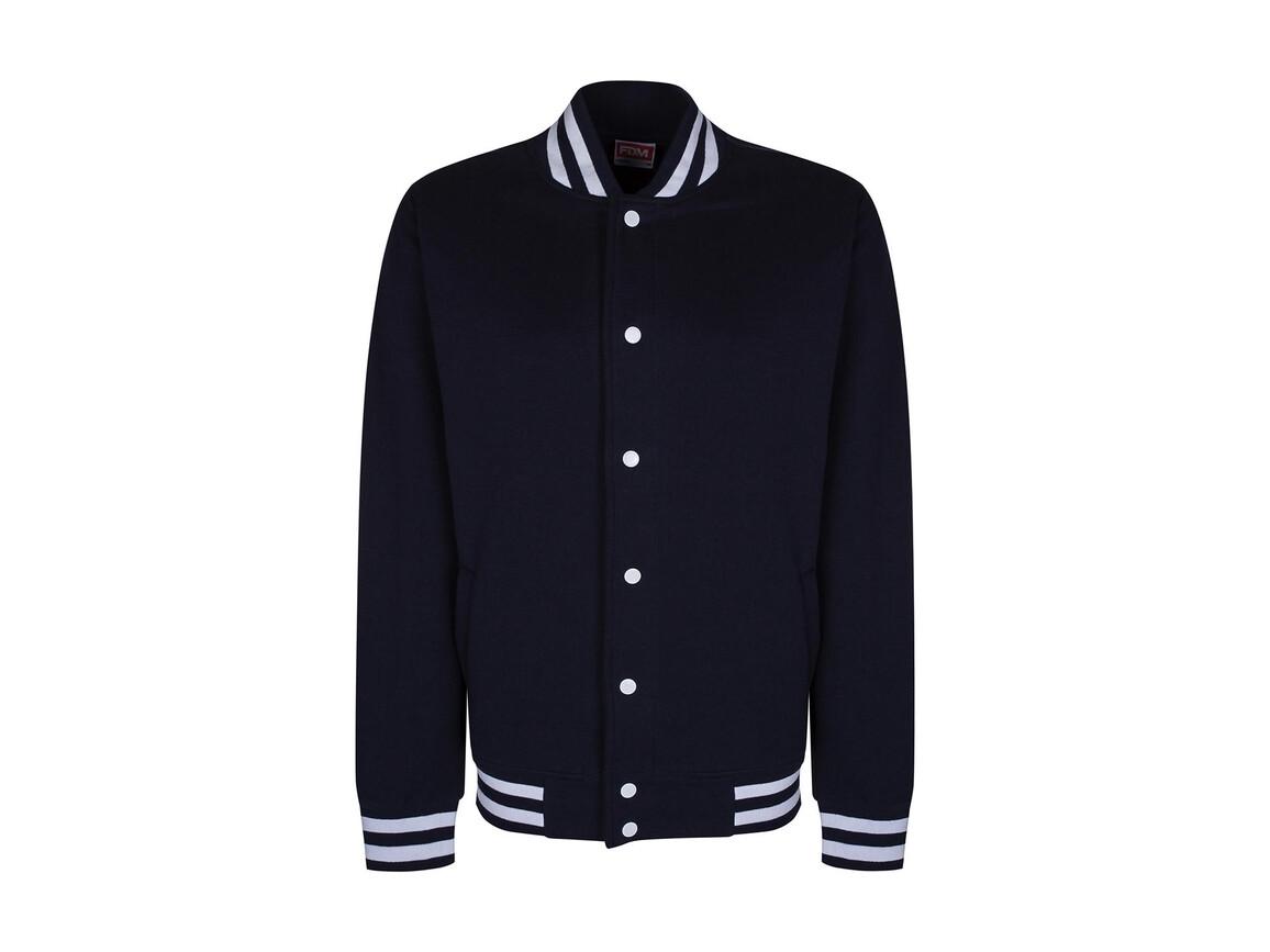 FDM Campus Jacket, Navy/White, XS bedrucken, Art.-Nr. 466552522