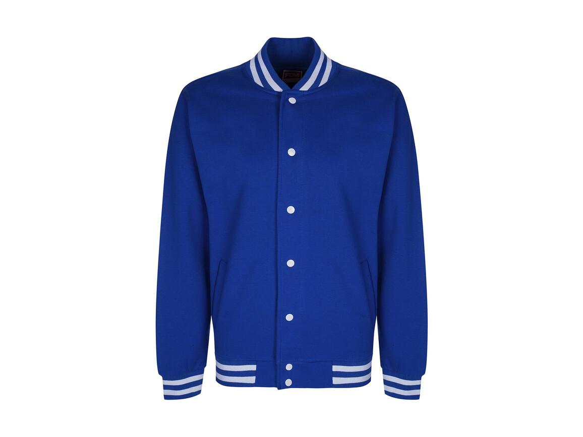 FDM Campus Jacket, Royal/White, XL bedrucken, Art.-Nr. 466553536