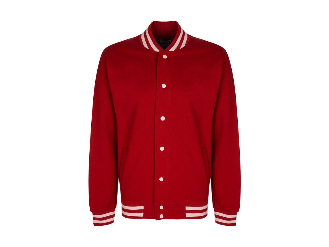 FDM Campus Jacket, Fire Red/White, XL bedrucken, Art.-Nr. 466554506