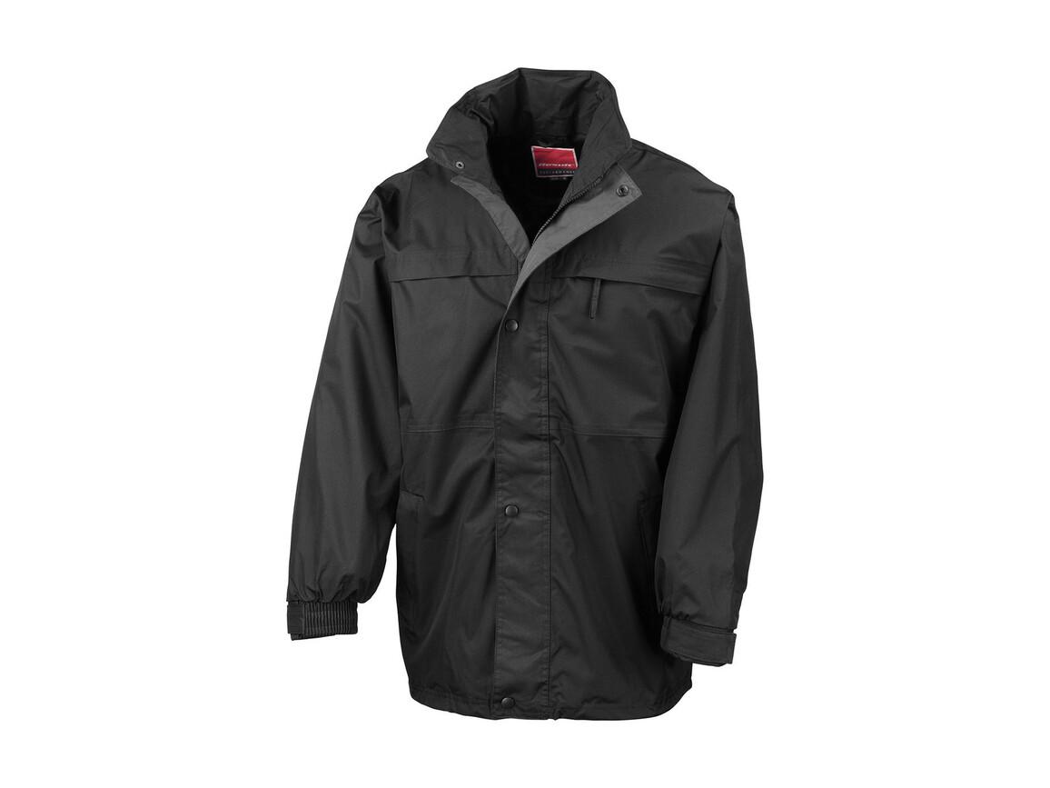 Result Mid-Season Jacket, Black/Grey, L bedrucken, Art.-Nr. 467331515