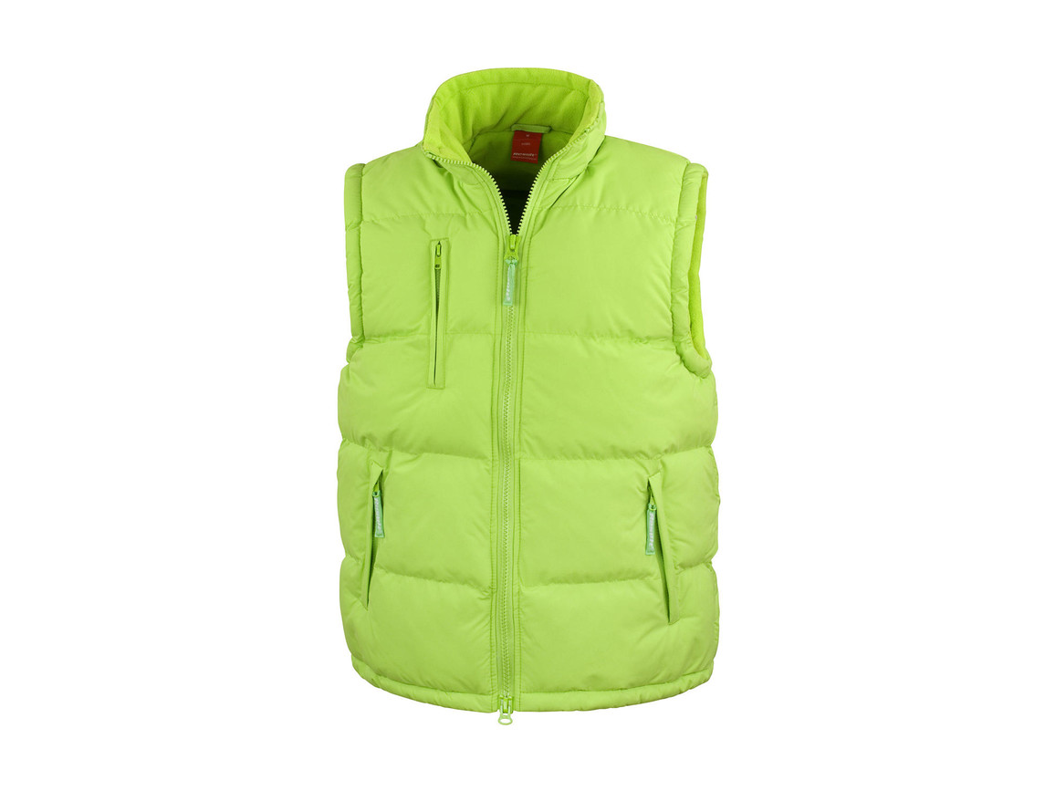 Result Windproof Bodywarmer, Lime, M bedrucken, Art.-Nr. 474335214