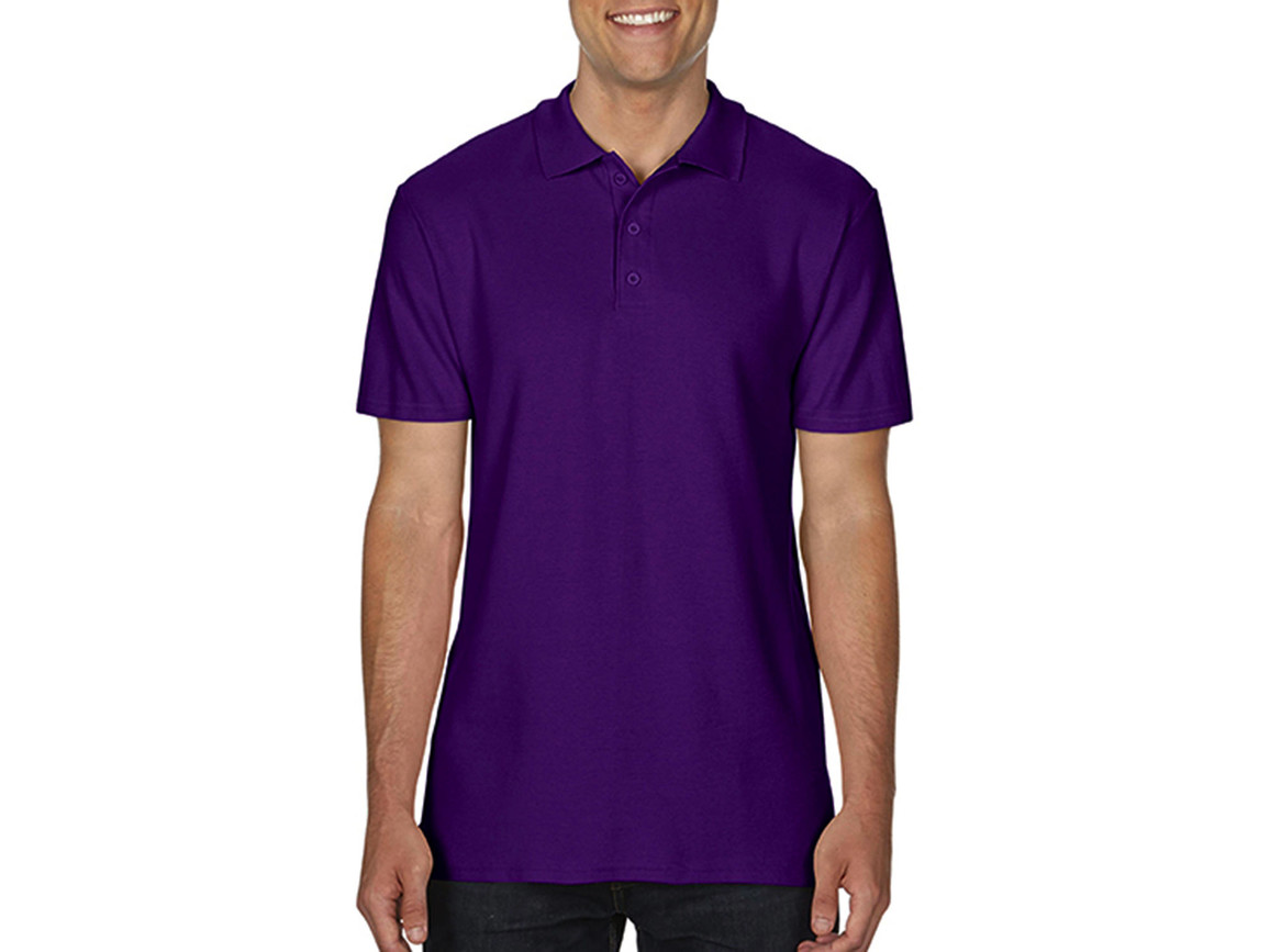 Gildan Softstyle® Adult Double Pique Polo, Purple, 2XL bedrucken, Art.-Nr. 501093497