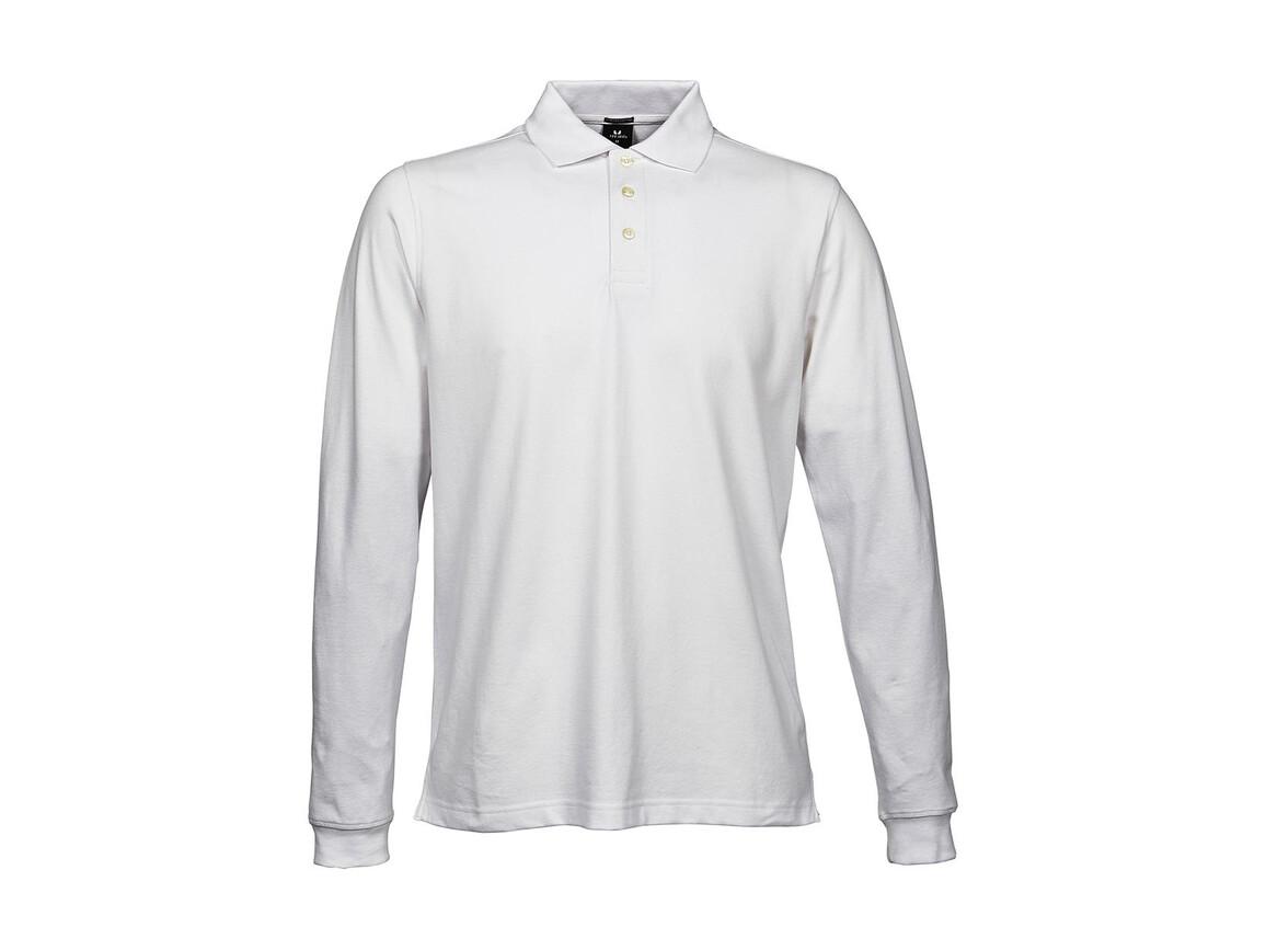 Tee Jays Luxury LS Stretch Polo, White, XL bedrucken, Art.-Nr. 501540006