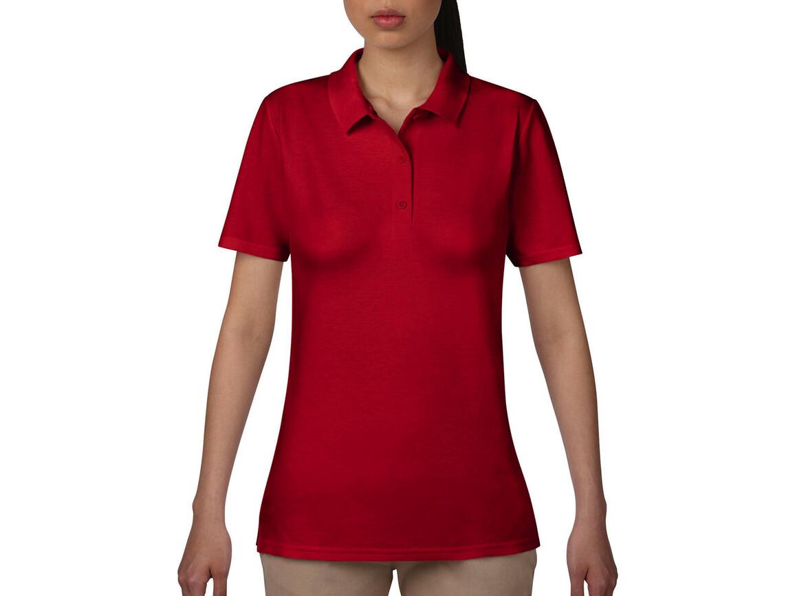 Anvil Women`s Double Piqué Polo, Red, L bedrucken, Art.-Nr. 503084005