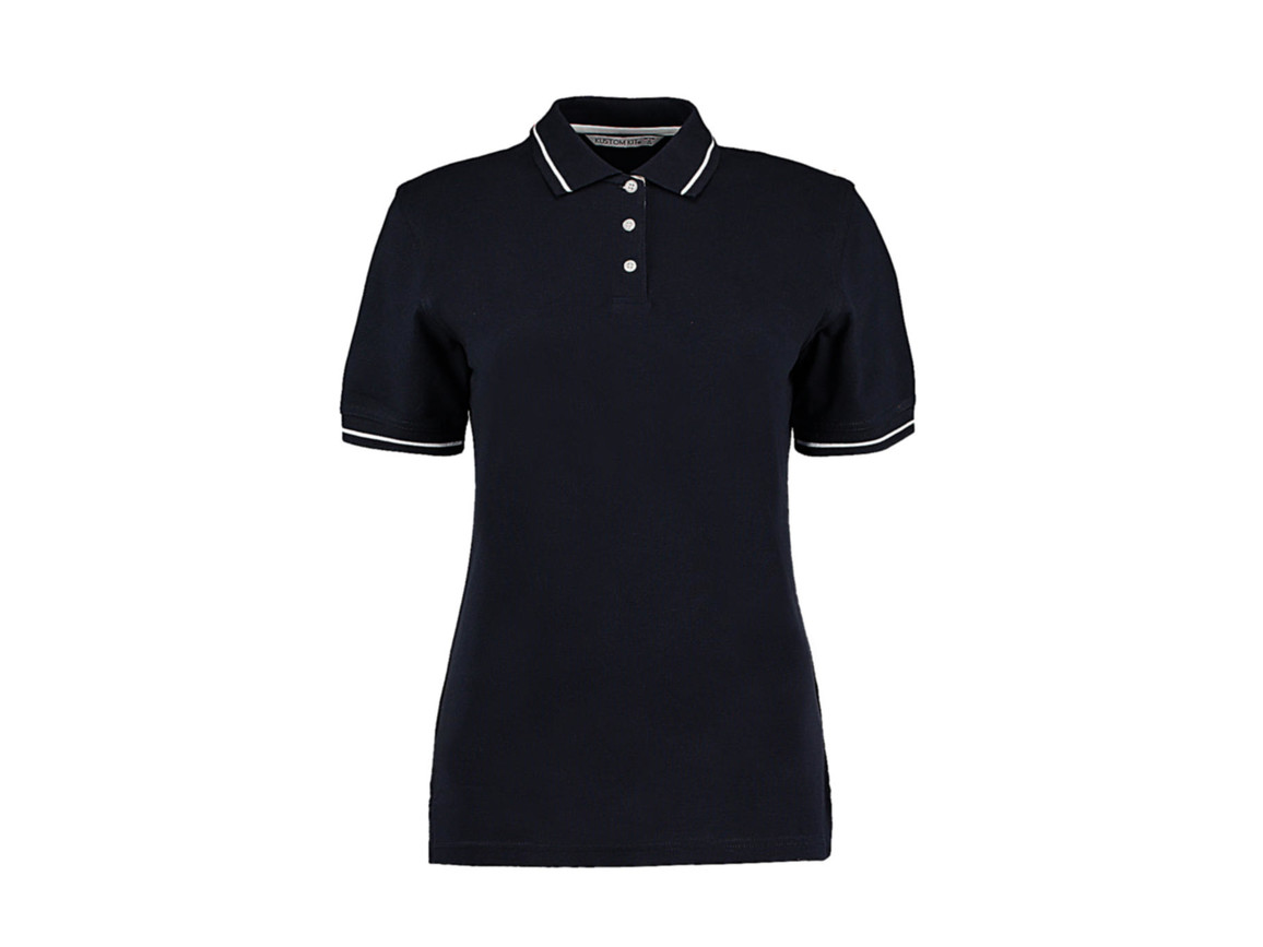 Kustom Kit Women`s St. Mellion Polo, Navy/White, 2XL bedrucken, Art.-Nr. 503112526