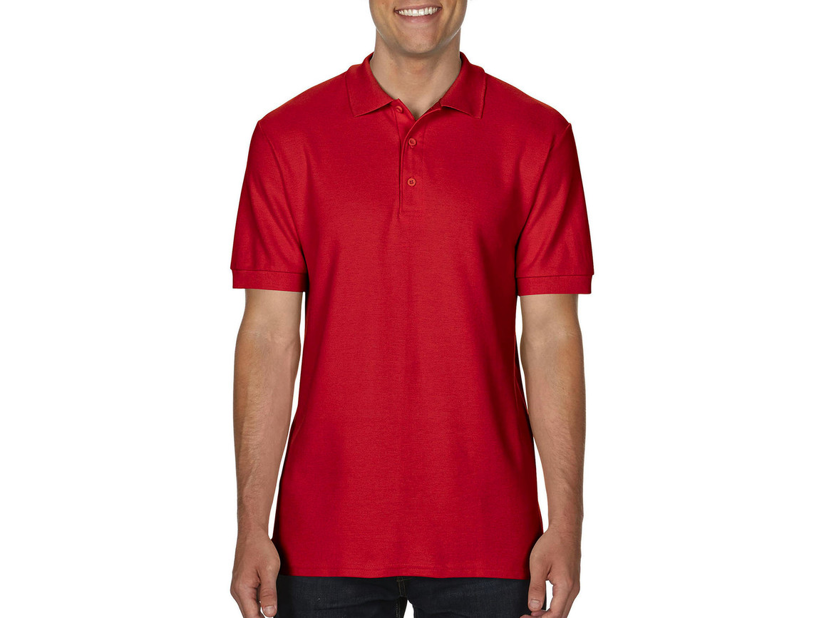 Gildan Premium Cotton Double Piqué Polo, Red, 3XL bedrucken, Art.-Nr. 504094008
