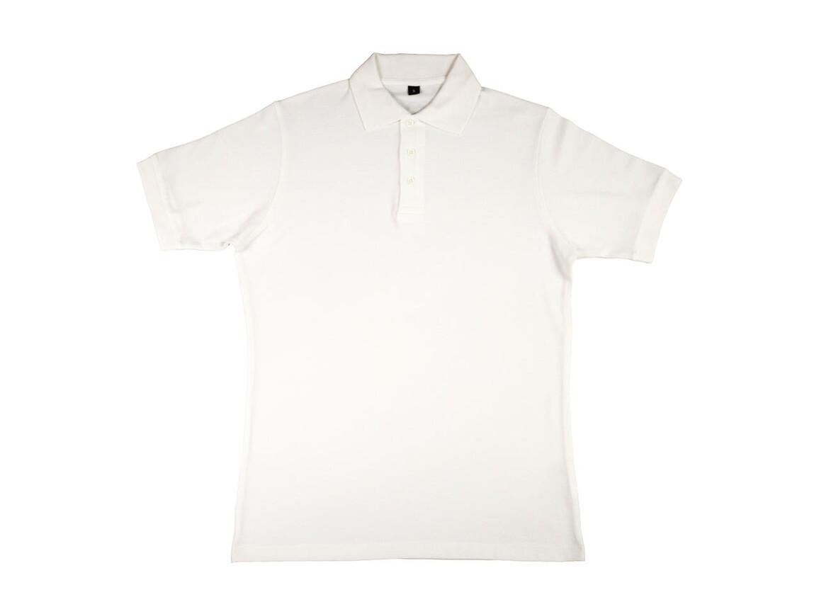 nakedshirt Charlton Men`s Viscose-Cotton Pique-Polo, White, 2XL bedrucken, Art.-Nr. 511850007