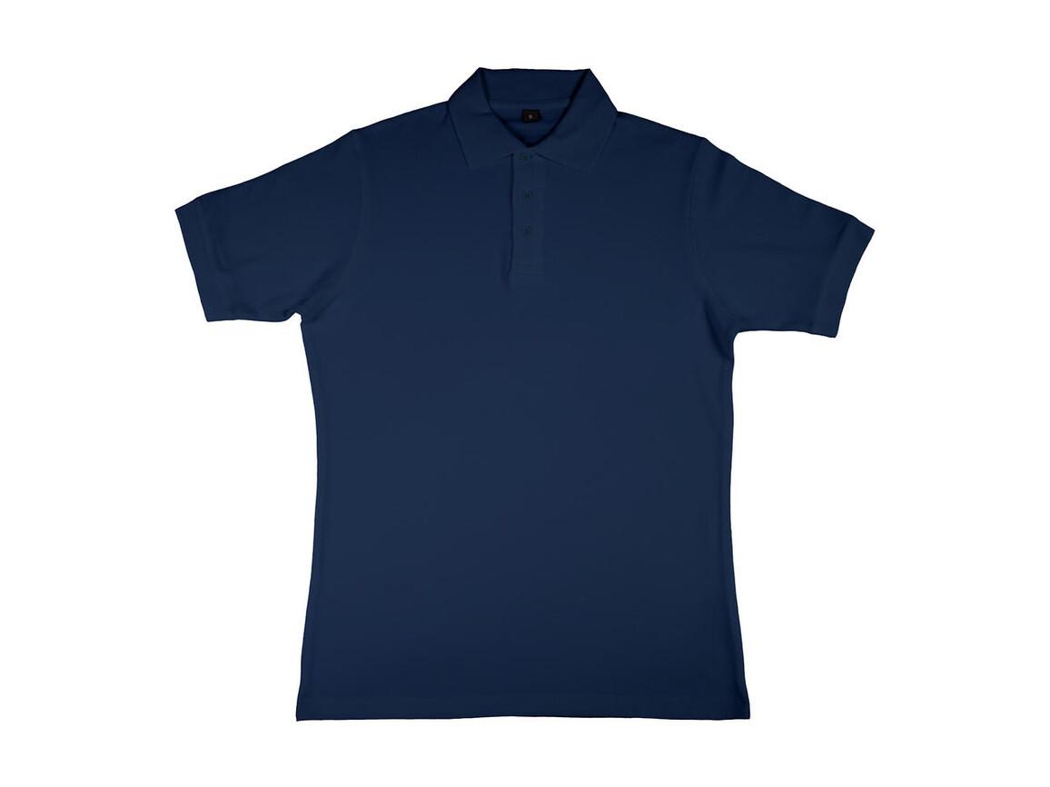 nakedshirt Charlton Men`s Viscose-Cotton Pique-Polo, Navy, S bedrucken, Art.-Nr. 511852003
