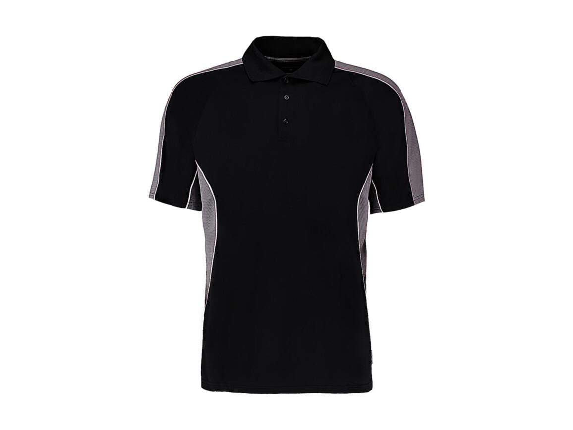 Kustom Kit Classic Fit Cooltex® Contrast Polo Shirt, Black/Grey, XL bedrucken, Art.-Nr. 512111516