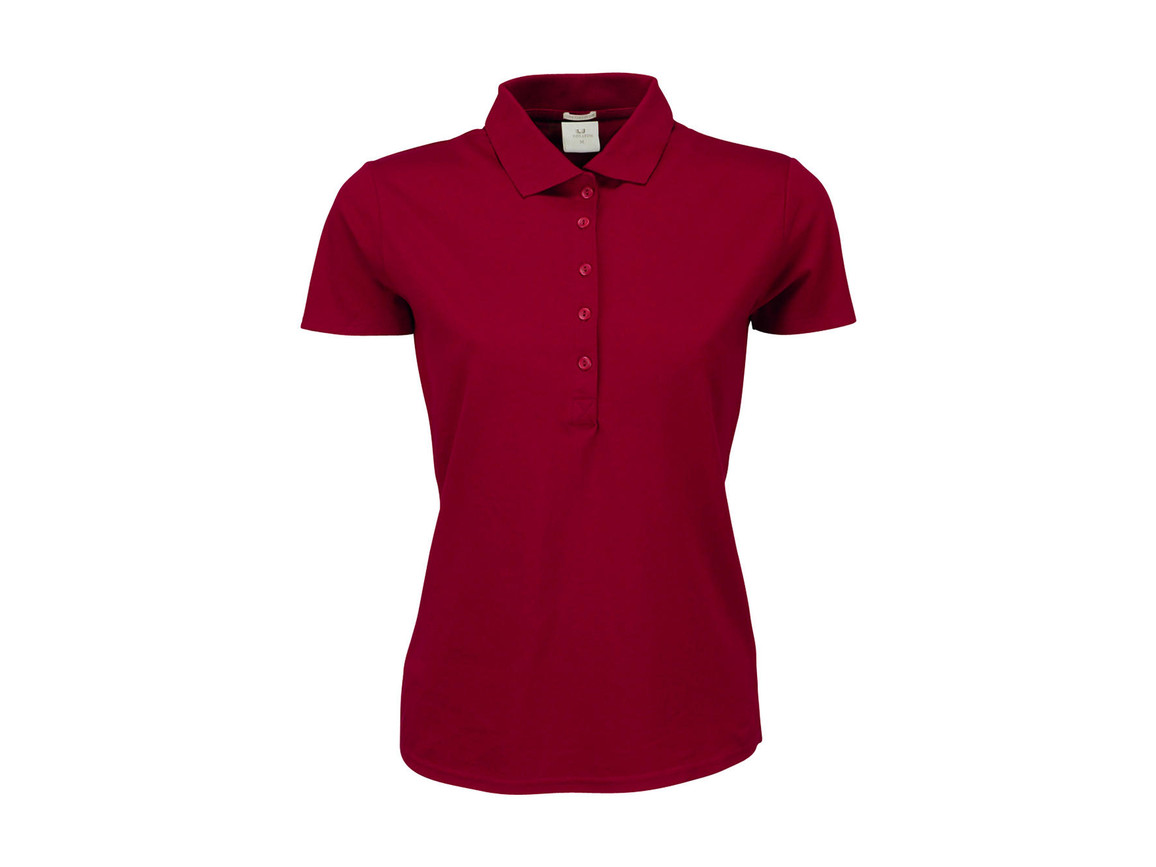 Tee Jays Ladies` Luxury Stretch Polo, Deep Red, 2XL bedrucken, Art.-Nr. 513544067