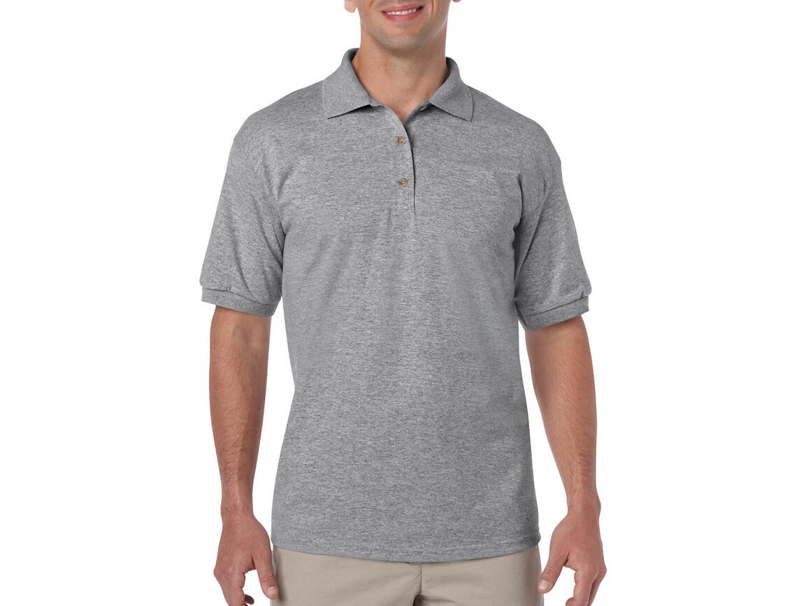Gildan DryBlend Adult Jersey Polo, Sport Grey, S bedrucken, Art.-Nr. 520091253