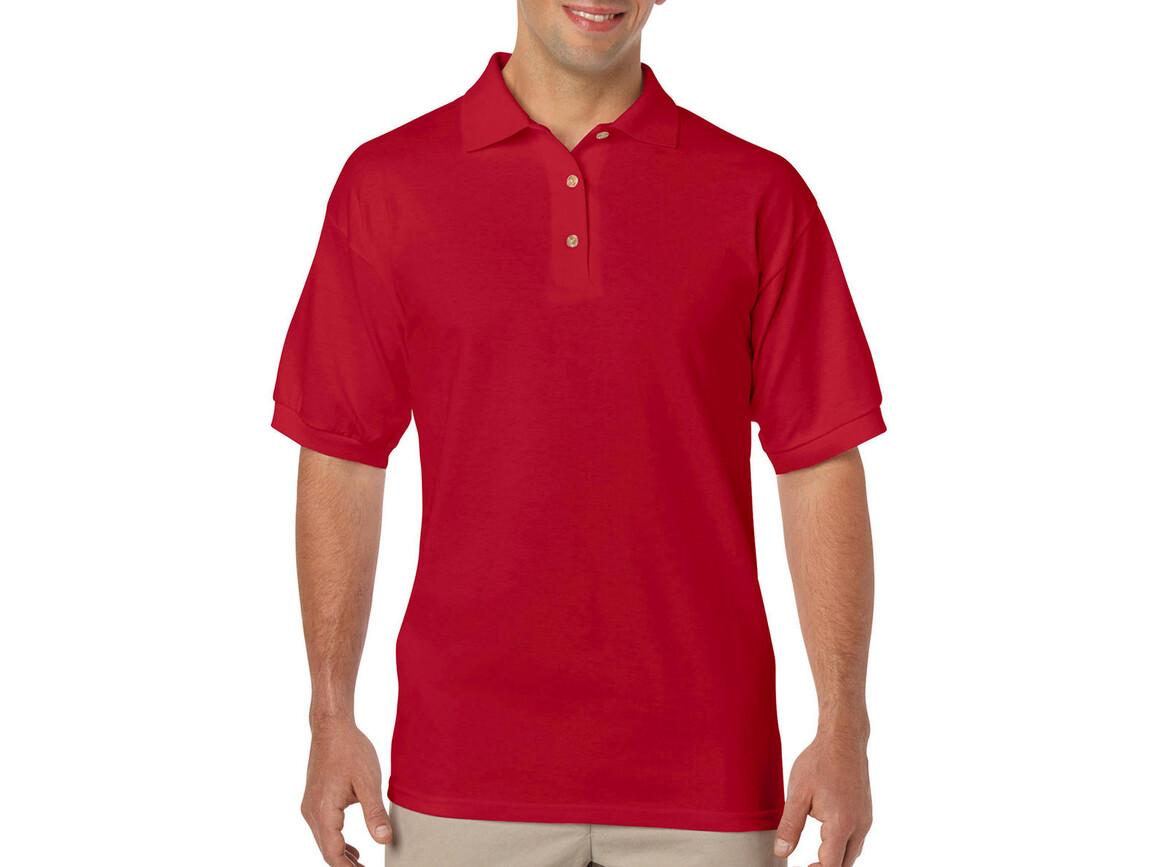 Gildan DryBlend Adult Jersey Polo, Red, S bedrucken, Art.-Nr. 520094003