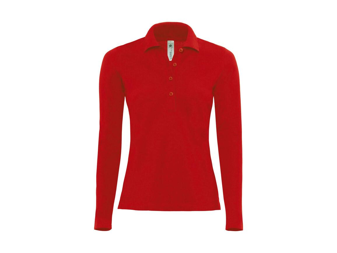 B & C Safran Pure LSL/women Polo, Red, XL bedrucken, Art.-Nr. 520424006