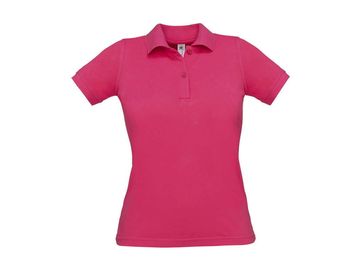 B & C Safran Pure/women Polo, Fuchsia, M bedrucken, Art.-Nr. 526424184