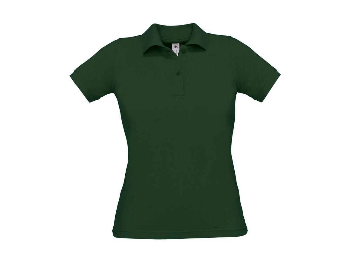 B & C Safran Pure/women Polo, Bottle Green, XL bedrucken, Art.-Nr. 526425406