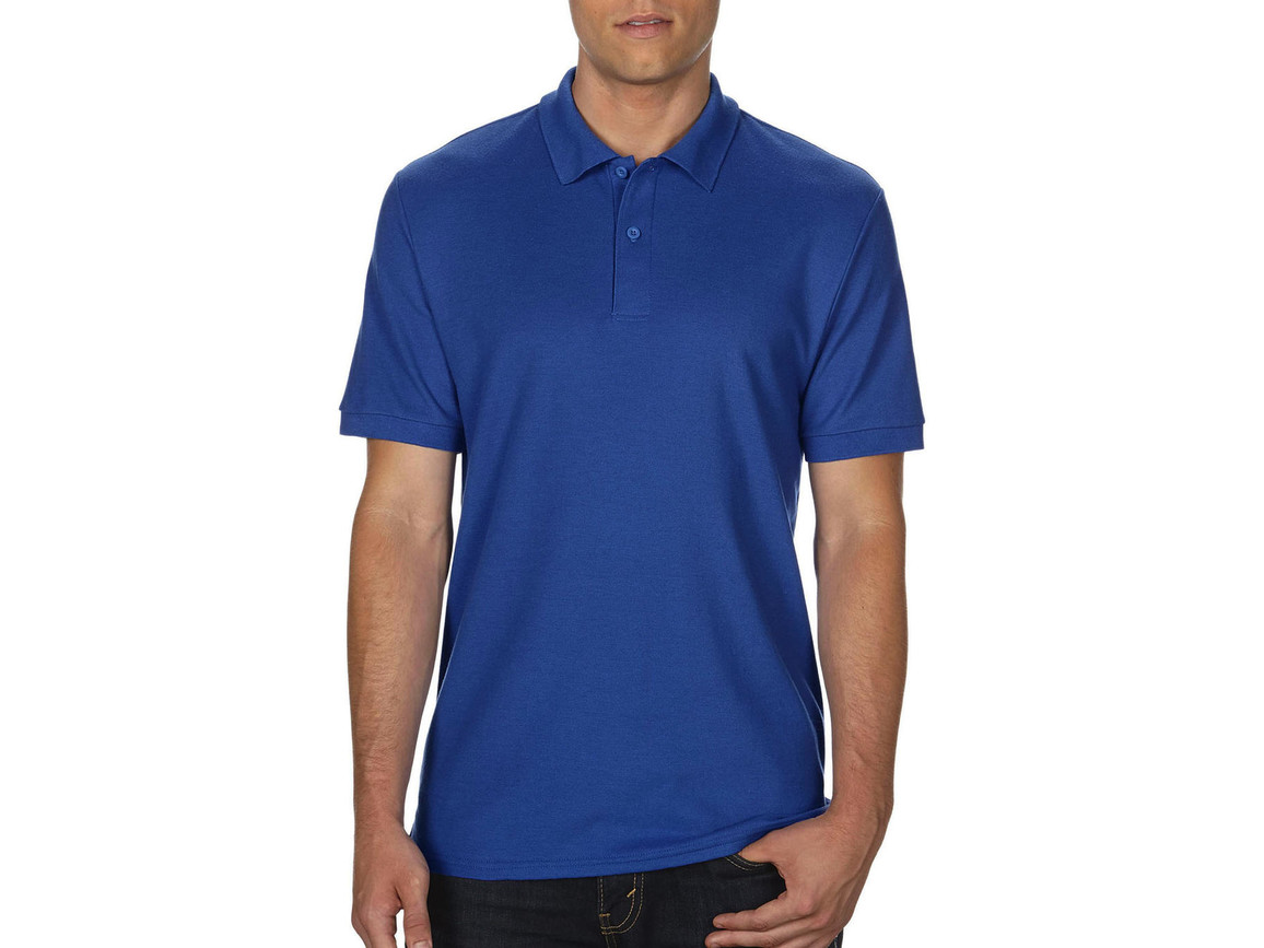 Gildan DryBlend® Double Piqué Polo, Royal, 3XL bedrucken, Art.-Nr. 538093008