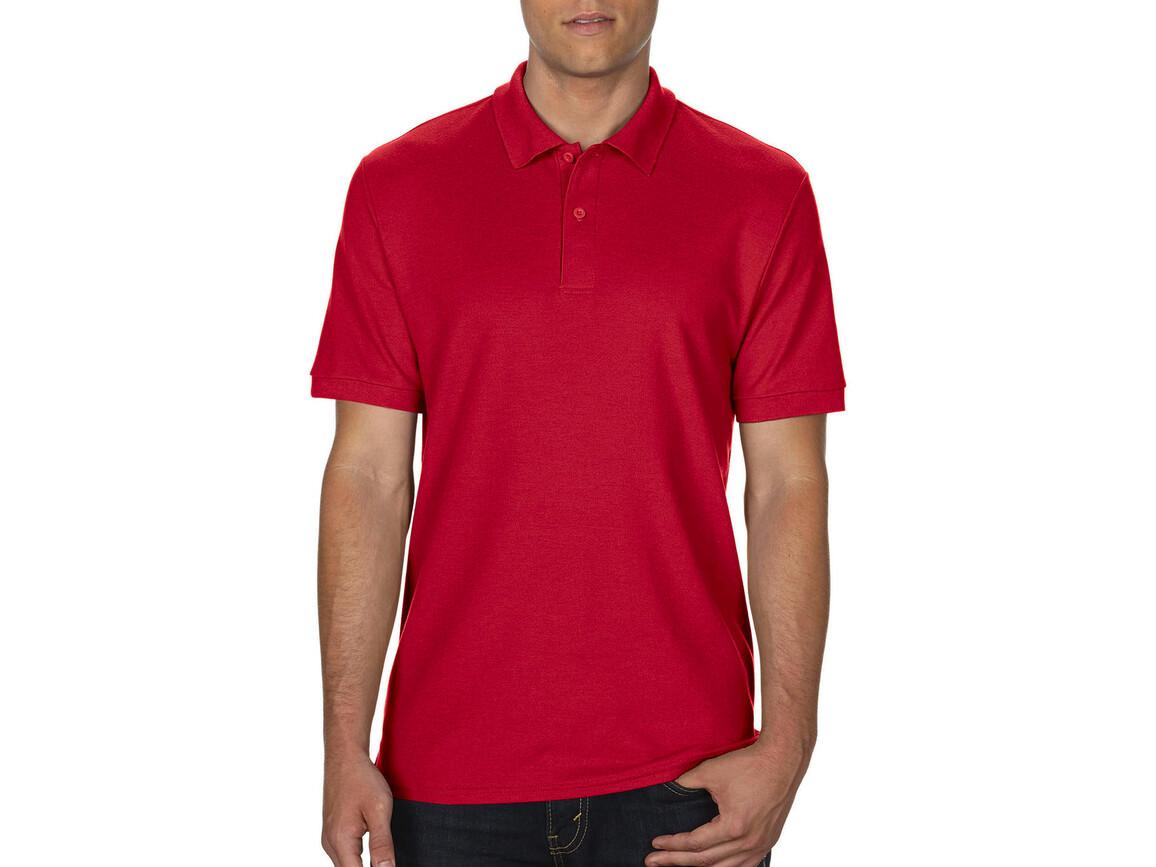 Gildan DryBlend® Double Piqué Polo, Red, S bedrucken, Art.-Nr. 538094003