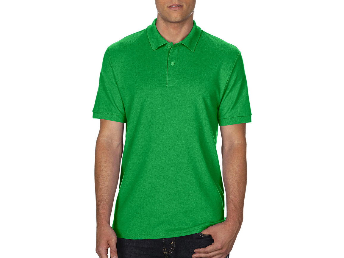 Gildan DryBlend® Double Piqué Polo, Irish Green, 3XL bedrucken, Art.-Nr. 538095098