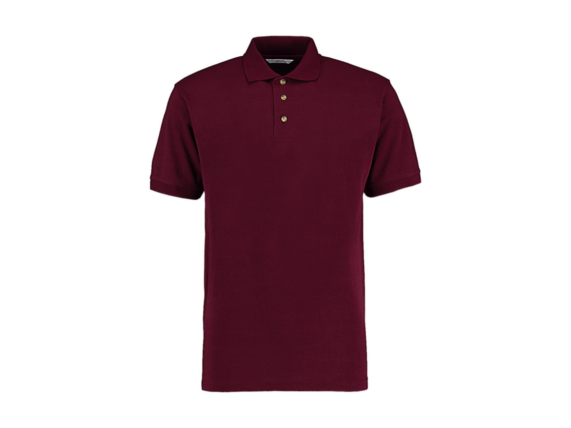 Kustom Kit Classic Fit Workwear Polo Superwash® 60º, Burgundy, 2XL bedrucken, Art.-Nr. 539114487