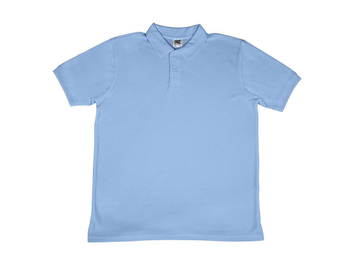 SG Men`s Poly Cotton Polo, Sky, L bedrucken, Art.-Nr. 539523205