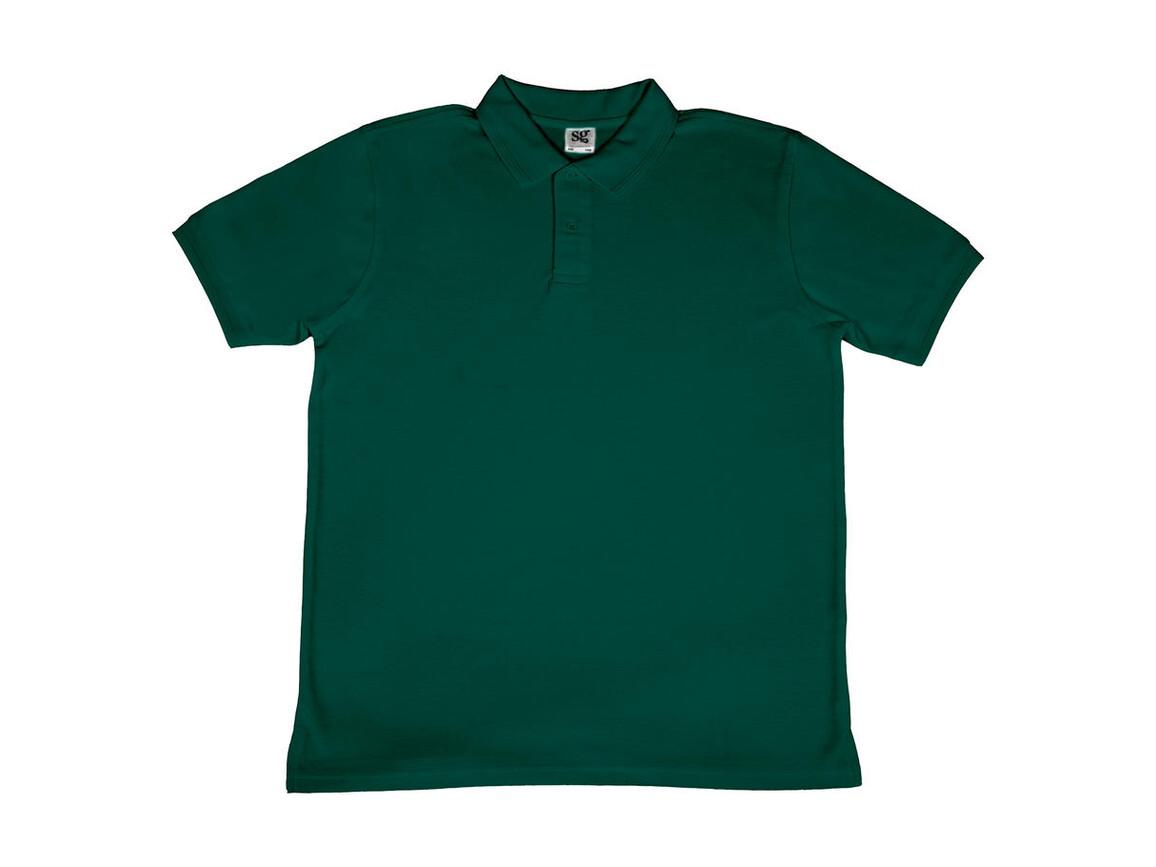 SG Men`s Poly Cotton Polo, Bottle Green, M bedrucken, Art.-Nr. 539525404