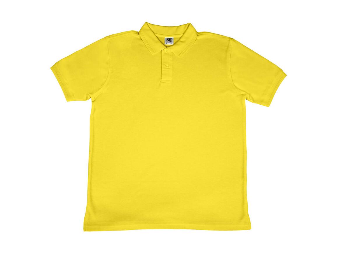 SG Men`s Poly Cotton Polo, Yellow, 2XL bedrucken, Art.-Nr. 539526007