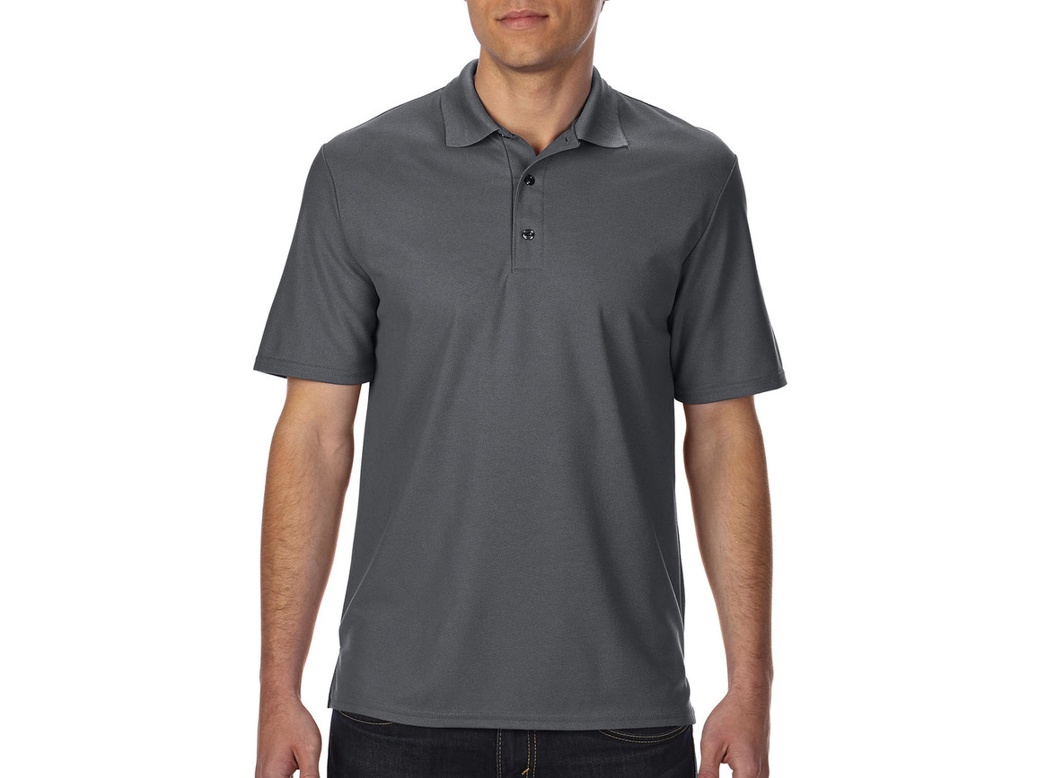 Gildan Performance® Double Piqué Polo, Charcoal, M bedrucken, Art.-Nr. 543091304