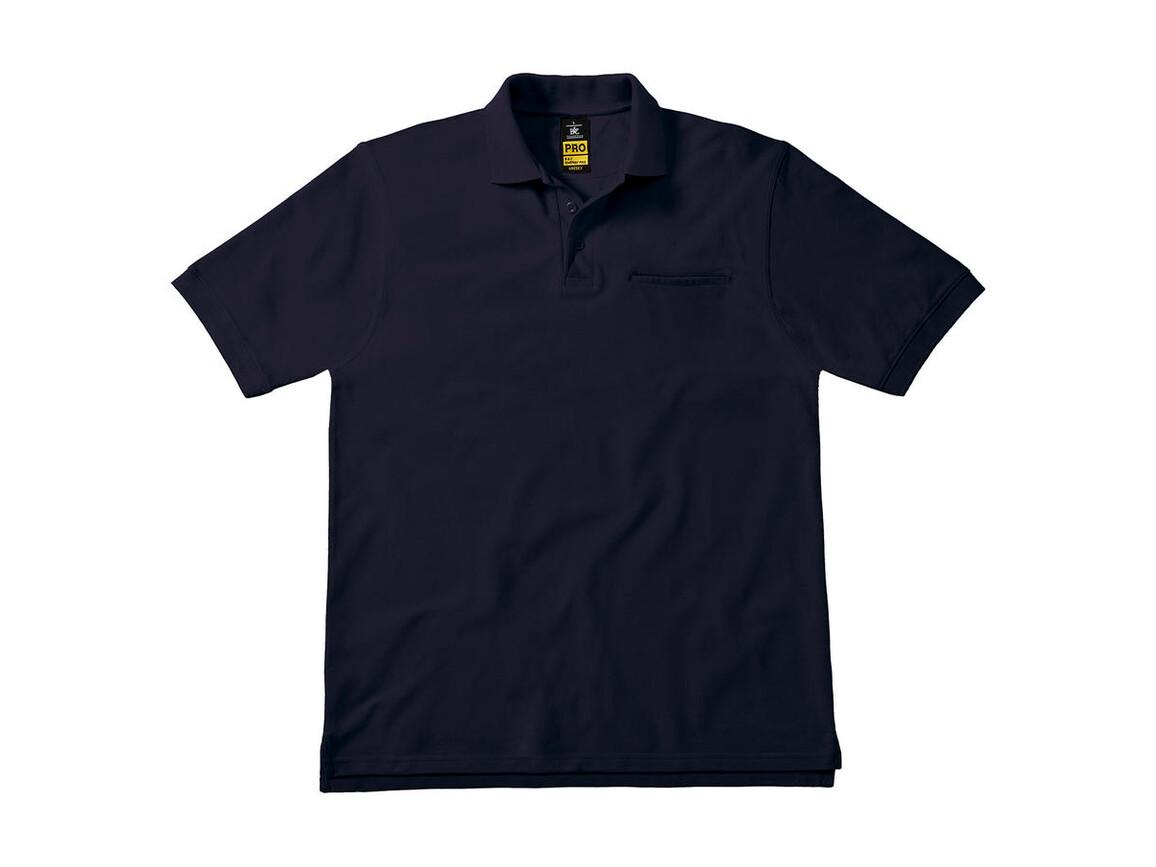 B & C Energy Pro Workwear Pocket Polo, Navy, M bedrucken, Art.-Nr. 543422004
