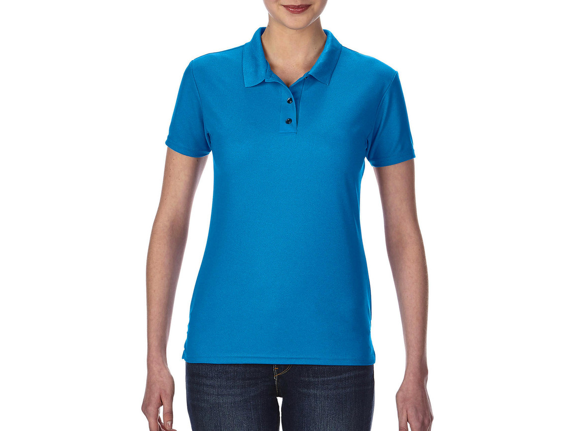 Gildan Performance® Ladies` Double Piqué Polo, Sapphire, XL bedrucken, Art.-Nr. 544093296