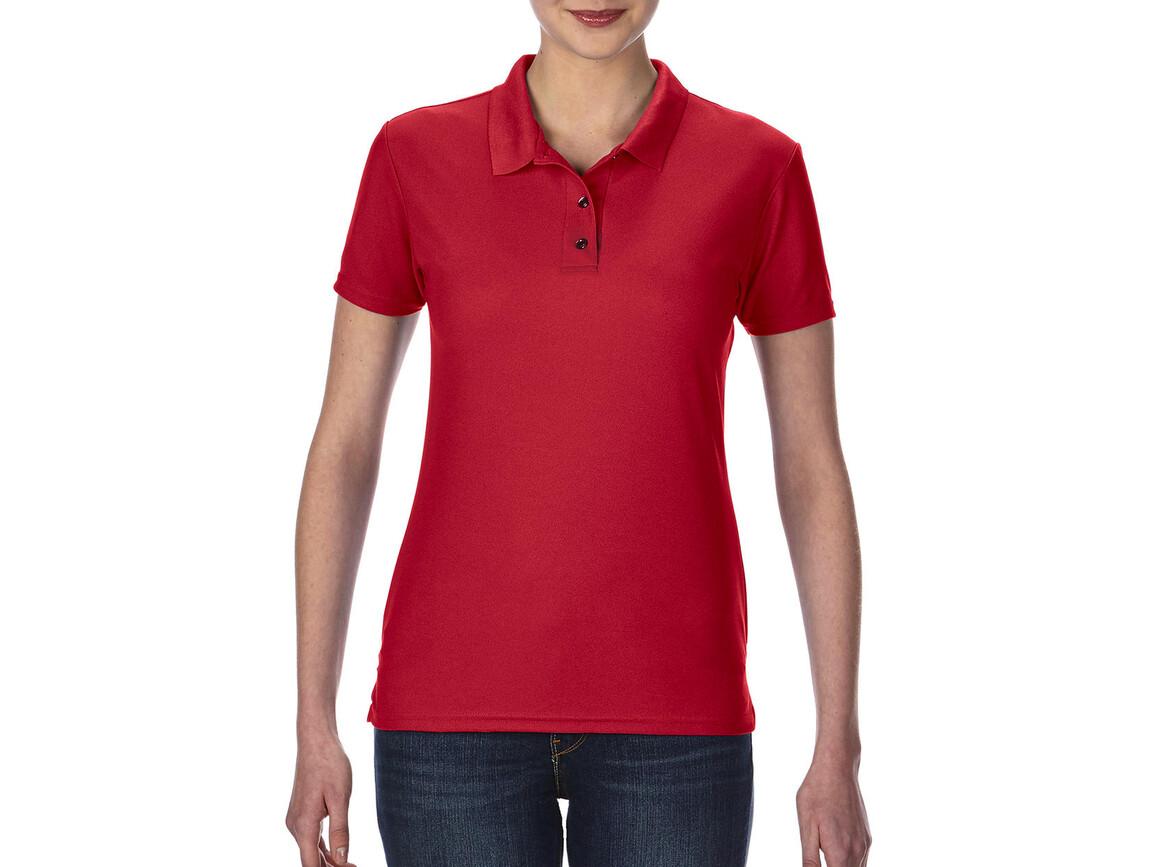 Gildan Performance® Ladies` Double Piqué Polo, Red, S bedrucken, Art.-Nr. 544094003