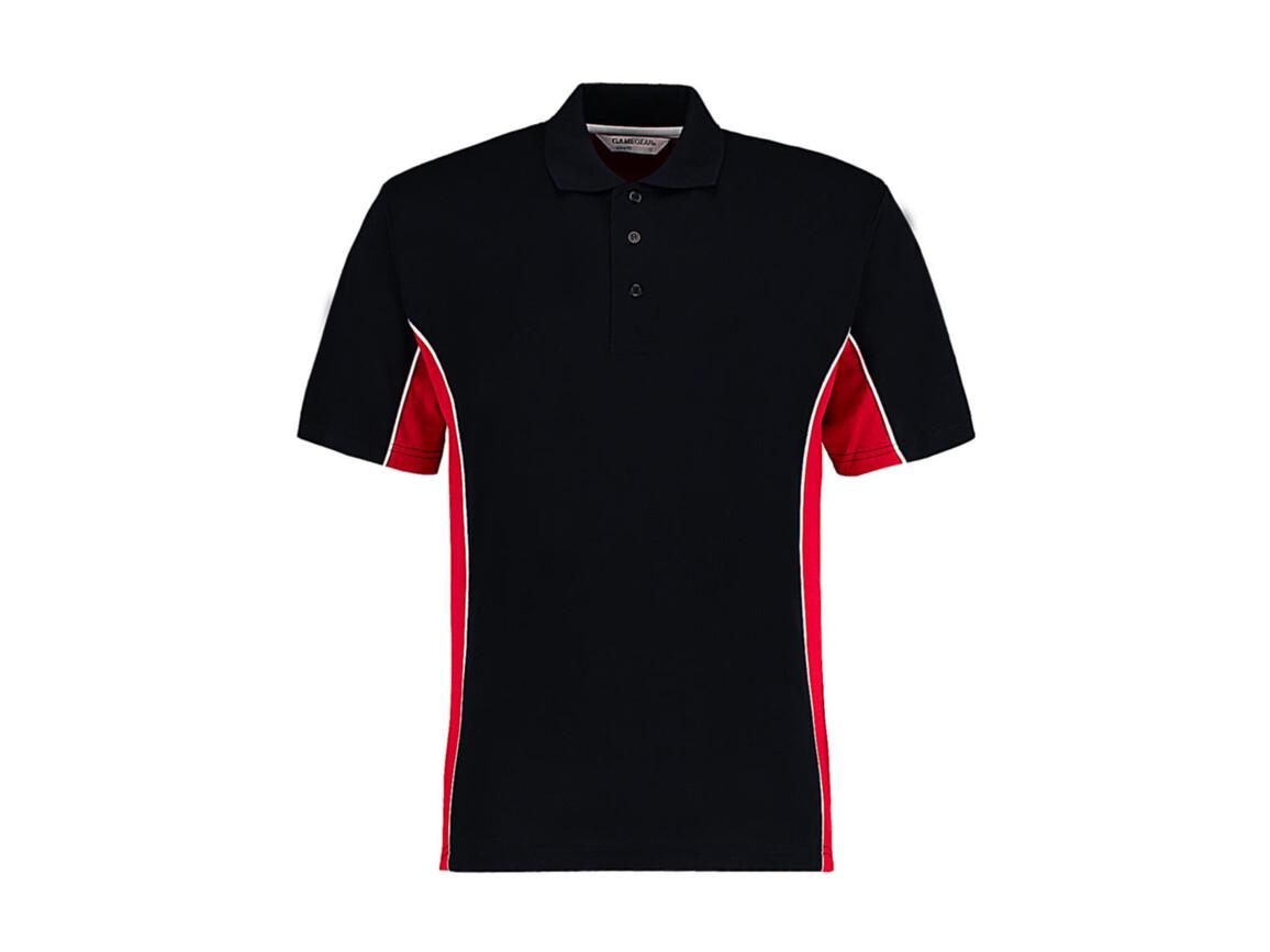 Kustom Kit Classic Fit Track Polo, Navy/Red/White, 2XL bedrucken, Art.-Nr. 547112847