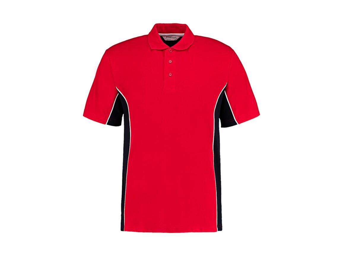 Kustom Kit Classic Fit Track Polo, Red/Navy/White, 2XL bedrucken, Art.-Nr. 547114957