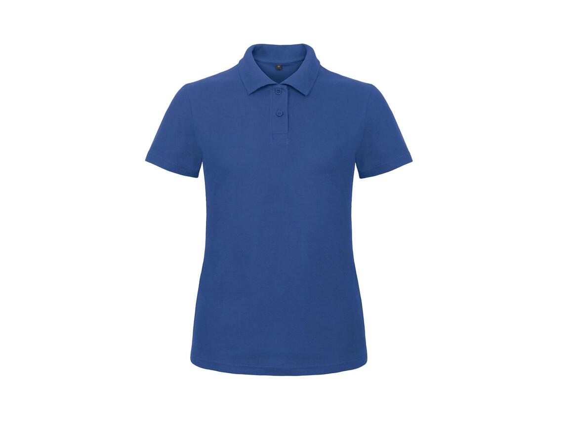 B & C ID.001/women Piqué Polo Shirt, Royal, XS bedrucken, Art.-Nr. 547423002