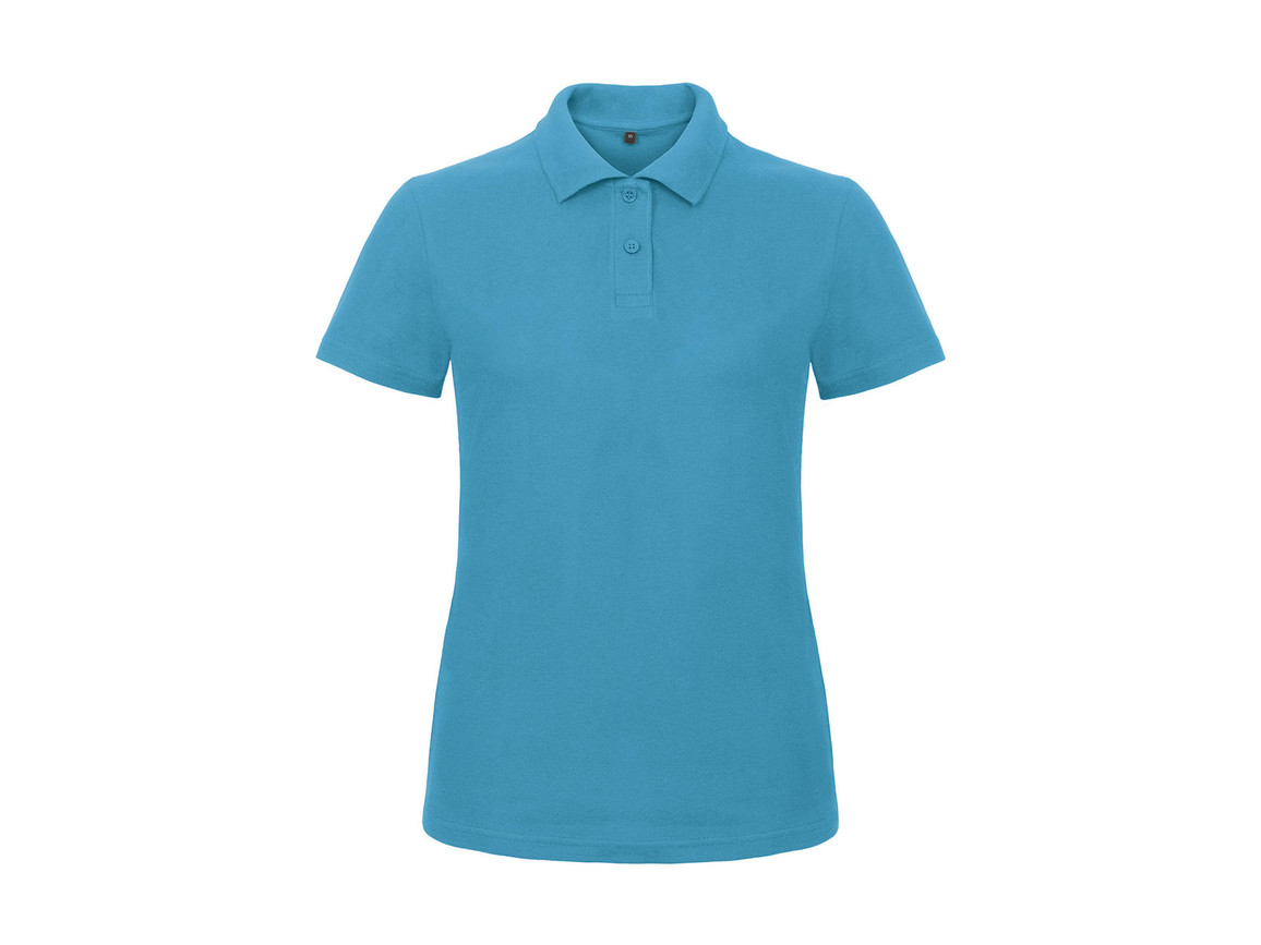 B & C ID.001/women Piqué Polo Shirt, Atoll, M bedrucken, Art.-Nr. 547423144