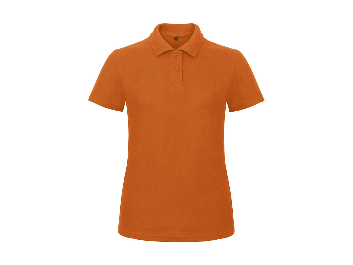 B & C ID.001/women Piqué Polo Shirt, Orange, L bedrucken, Art.-Nr. 547424105