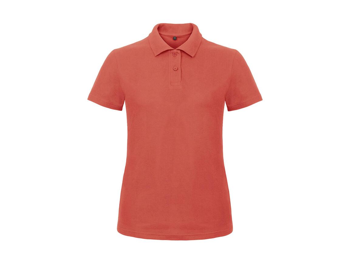 B & C ID.001/women Piqué Polo Shirt, Pixel Coral, XS bedrucken, Art.-Nr. 547424302