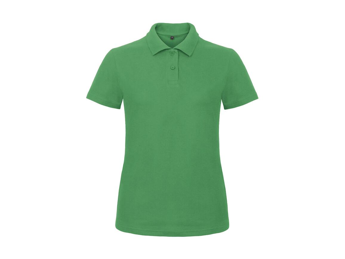 B & C ID.001/women Piqué Polo Shirt, Kelly Green, L bedrucken, Art.-Nr. 547425185