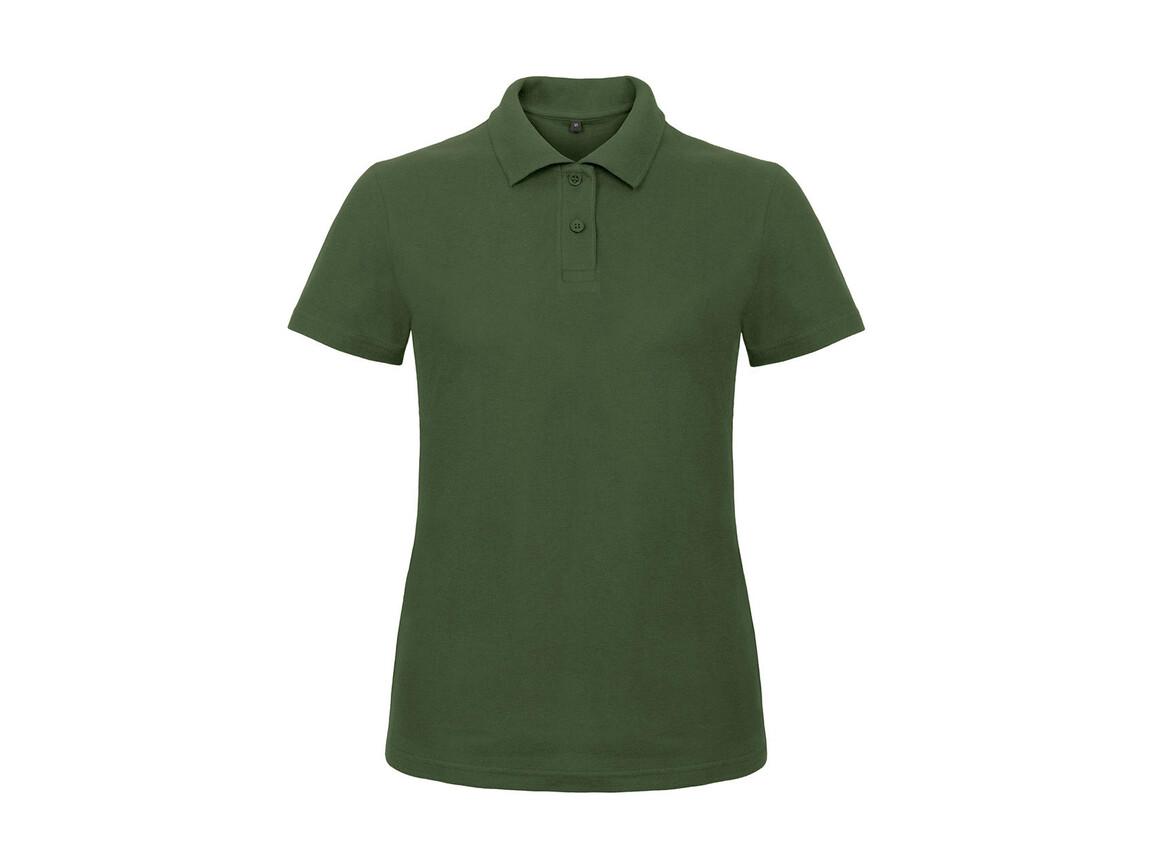 B & C ID.001/women Piqué Polo Shirt, Bottle Green, S bedrucken, Art.-Nr. 547425403