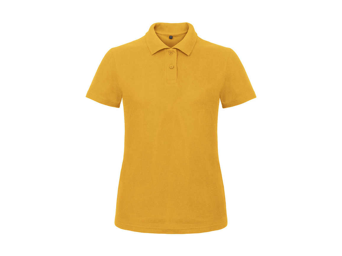 B & C ID.001/women Piqué Polo Shirt, Chili Gold, M bedrucken, Art.-Nr. 547426134